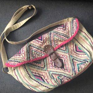 Embroidered crossbody bag